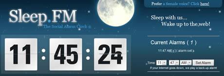 Sleep.FM, una alarma online - despertador-online
