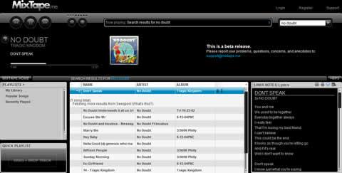 escuchar musica gratis Escuchar musica en MixTape.me