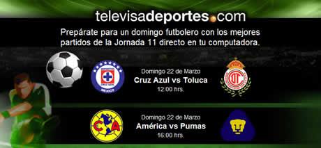 Futbol mexicano en vivo, Jornada 11 - futbol-mexicano