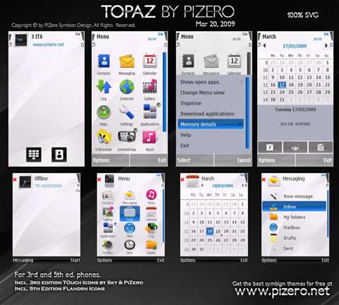 Temas para nokia, Topaz - themes-nokia-gratis1