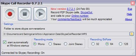 grabar llamadas Grabar llamadas de Skype con Skype Call Recorder
