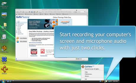 grabar pantalla Grabar videos de la pantalla de tu computadora con GoView