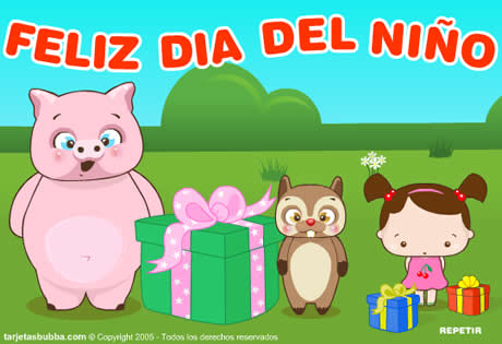 Tarjetas del día del niño para felicitar a los niños webadictos en su día - tarjetas-dia-del-nino