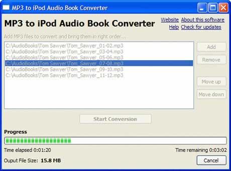 audiolibros ipod Crear audiolibros para iPod