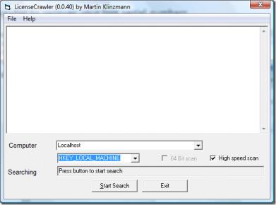 """Recupera Los Seriales De Tus Programas Instalados Con """"LicenseCrawler"""" - Inicio-LicenseCrawler"""