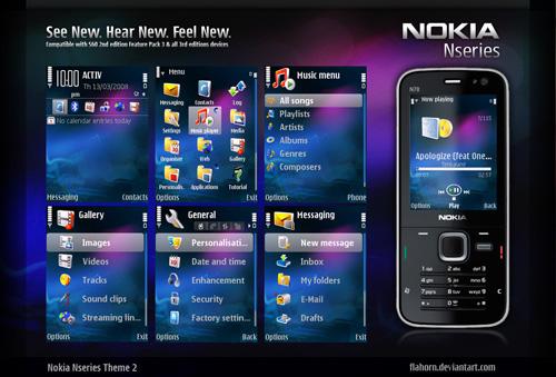 7 Bonitos temas para Nokia-Symbian - Nokia_Nseries_Theme_2