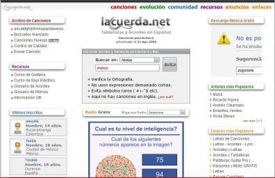 """La Letra De Tu Canción Favorita En """"La Cuerda.net"""" - lacuerda.net"""