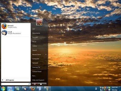 Barra de windows 7 en XP con ViGlance - viglance_