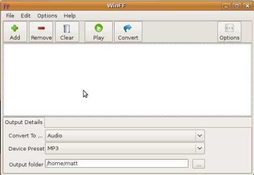 winff044 ubuntu Una sencilla forma de convertir vídeos es WinFF