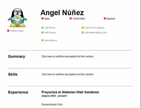 curriculum en linea Curriculum online, crealo en CeeVee