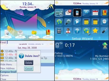 Temas blackberry gratis, Aura - themes-blackberry