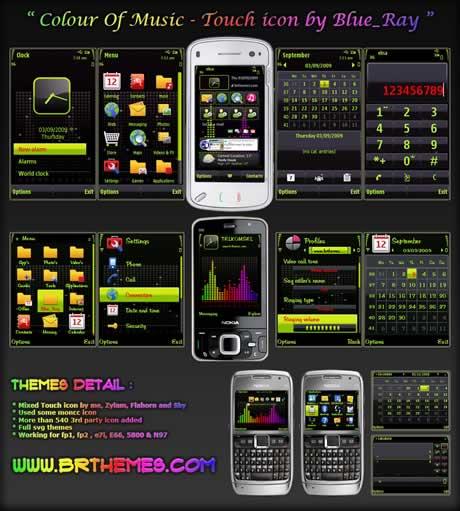 Temas nokia, Colour of music - themes-nokia-5800