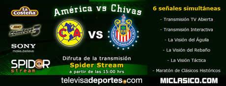 Clasico America vs Chicas en vivo y mas partidos de la jornada 13 - america-vs-chivas-en-linea