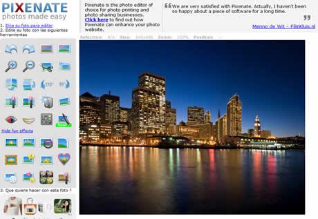 Editar fotos online con Pixenate - editor-de-fotos