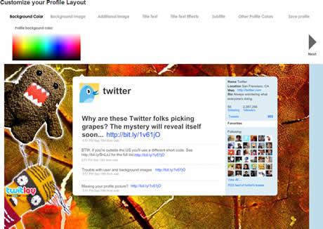 personalizar twitter Fondos Twitter, crealos en TwitLay