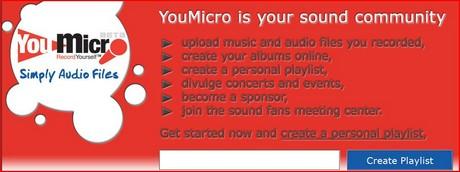 Compartir archivos de audio en YouMicro