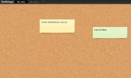 Crear notas en linea en Listhings - crear-notas-online