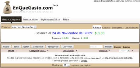 Finanzas personales, administralas en enquegasto.com - finanzas-personales