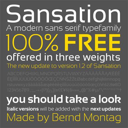Fuentes gratis, las mejores fuentes del 2009 - fuentes-gratis-sansation