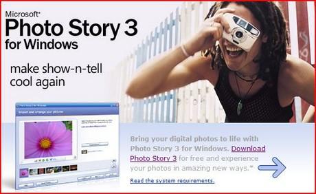 Crear slideshows de fotos con Photo Story 3