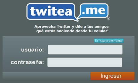 twitea.me Twittea mediante SMS con Twitea.me