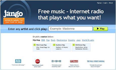 Escuchar música gratis en Jango.com - escuchar-musica