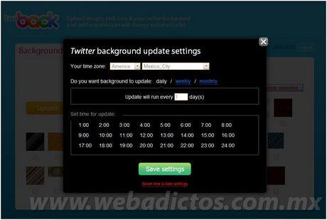 Actualizar tu fondo twitter automaticamente con Twiback - fondos-twitter
