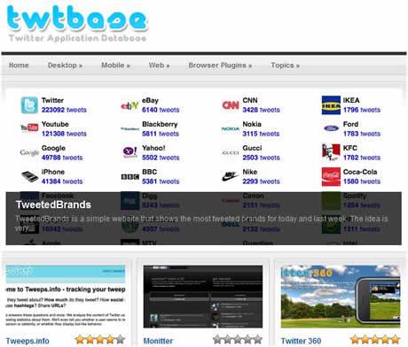 Aplicaciones twitter en Twtbase - aplicaciones-twitter
