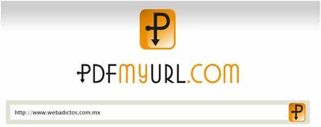 convertir a pdf Convertir paginas a PDF con PDFmyURL