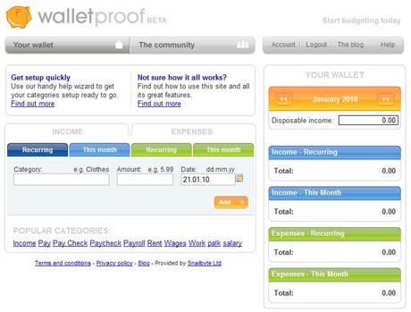 Controlar gastos con WalletProof - finanzas-personales