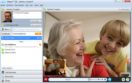 skype video llamadas Skype permite realizar videollamadas de alta definición