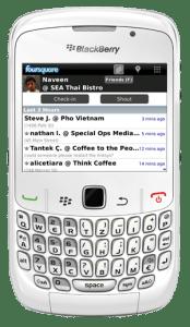 Foursquare al fin disponible para Blackberry - bbfqs-174x300