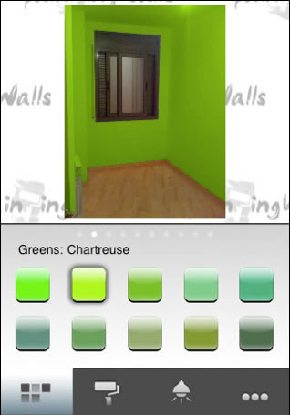 Escoger el color para tus paredes en tu iPhone con paintingWalls - remodelar-casa-pintura