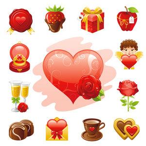 Dia del amor, iconos y vectores gratis - vectores-amor-y-amistad