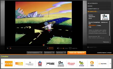 Cartoon network online y otros canales de TV en TerraTV - cartoon-network-online
