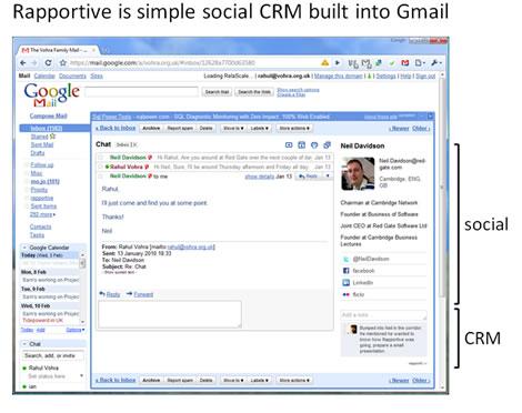 crm gmail Convierte en CRM tu gmail con Rapportive