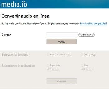 Un conversor de audio online llamado Media.io - media.io_