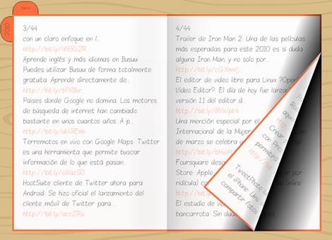 twitario ejemplo Twitario, visualiza tweets en forma de diario
