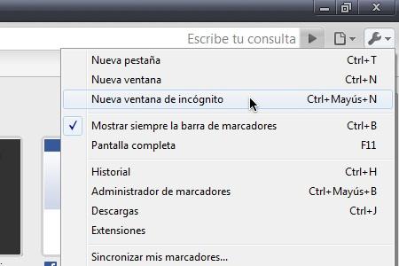 Chrome webadictos historial incognito 2 Cómo navegar en Google Chrome y que no se guarde en tu historial