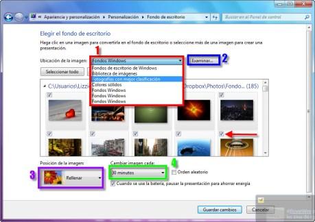 Como cambiar el fondo de pantalla en Windows 7 - Fondo-3