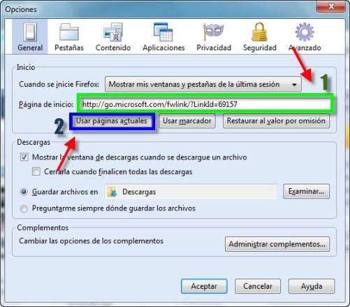 Internet 2 Como establecer una página de inicio en el Explorador de Internet