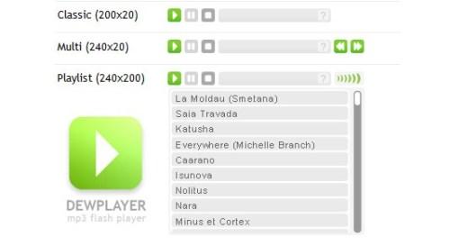 Dewplayer, un estupendo reproductor musical para tu blog - dew-player
