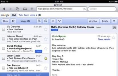 Gmail preparado para el iPad - gmail_ipad
