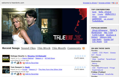 Musica de series de tv en heardontv.com - musica-series-tv