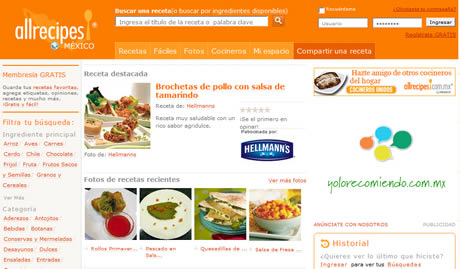 Red social de recetas de cocina, AllRecipes - recetas-cocina-de-mexico