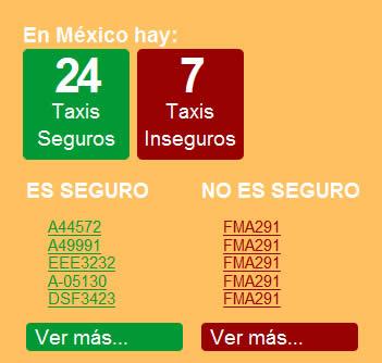 Saber si un taxi es seguro con ¡Hey! Taxi - taxis-seguros