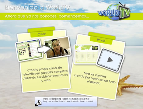 Crear canal de TV online con WorldTV - tv-online