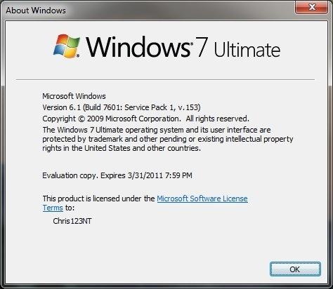Se filtra una versión del próximo Service Pack de Windows 7 - winver