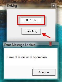 Comprende los mensajes de error de Windows con ErrMsg - ErrMsg