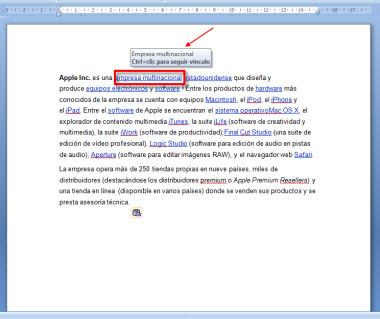 Como quitar los hipervínculos de un documento en Word - Hipervinculo-1